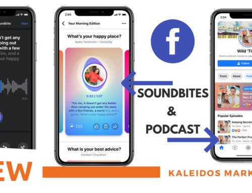 Soundbites e Podcast: le ultime grandi novità Facebook